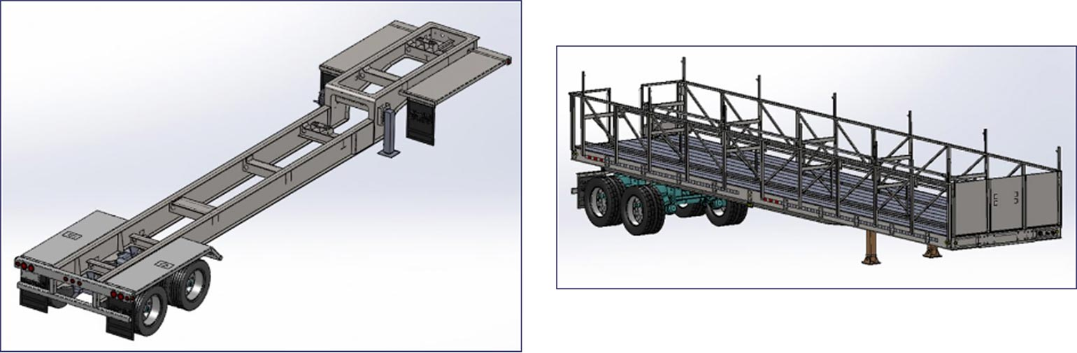 Custom trailers from Brumley Manufacturing